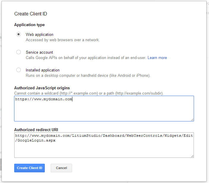 google-create-credentials