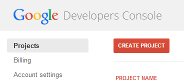 google-create-project